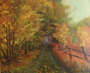"""""""Złota jesień"""" obraz olejny"""