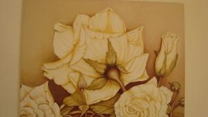Róże 2004, olej na płótnie 100x80